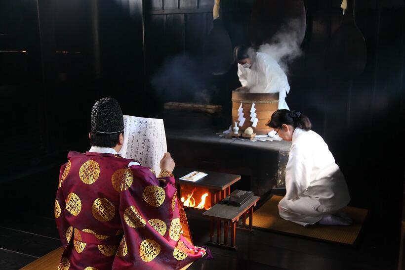 吉備津神社の鳴釜神事