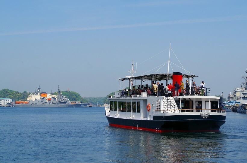 日米の艦船を見られる国内唯一の軍港クルーズ