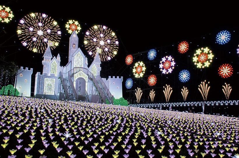 500万球のLED 日本三大イルミネーション あしかがフラワーパーク