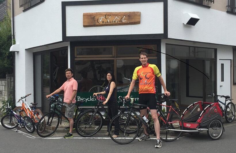グローバルな視点から信州の「ずくだし」を、サイクリングでガイド。信州戸倉上山田温泉のタイラーさん