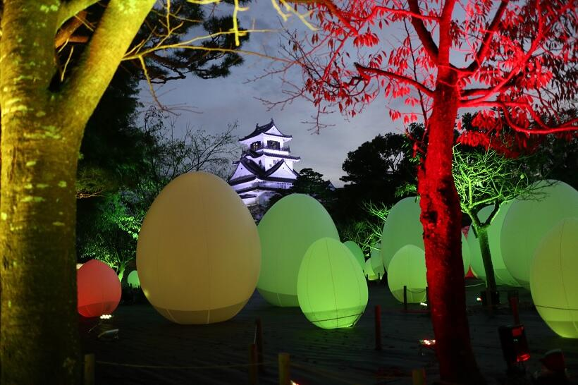 高知城 チームラボ 光の祭