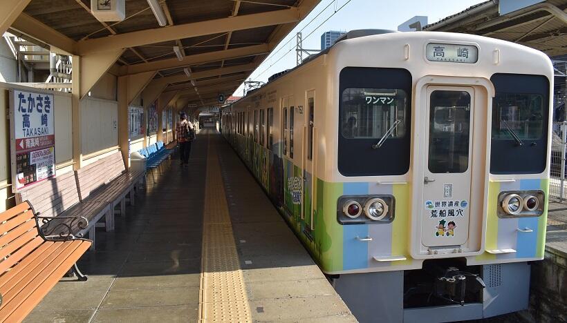 高崎駅に停車中の絵手紙列車
