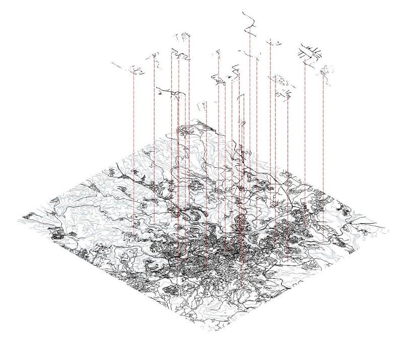 インスタレーションは、エルサレムの縮図だ©Lila Chitayat | STUDIO LinC + STUDIOPEZ