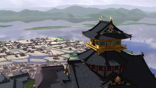CGで安土城を再現した「絢爛安土城」
