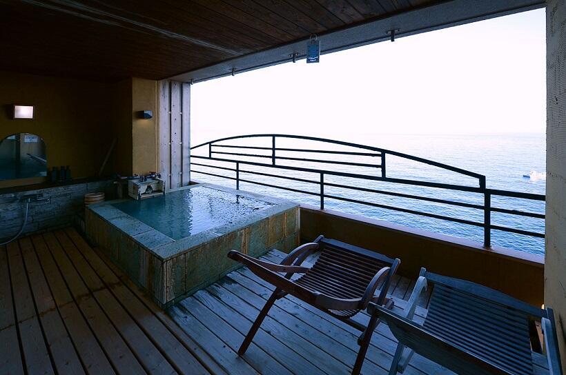 北川温泉 月と太陽が魅せる絶景を客室露天風呂で観賞(2)