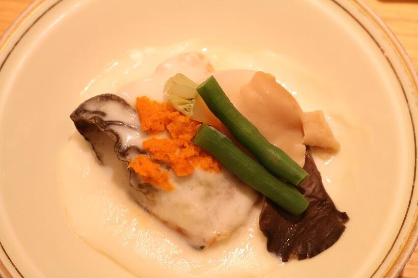 温菜「雲丹・サーモンのクリーム煮」