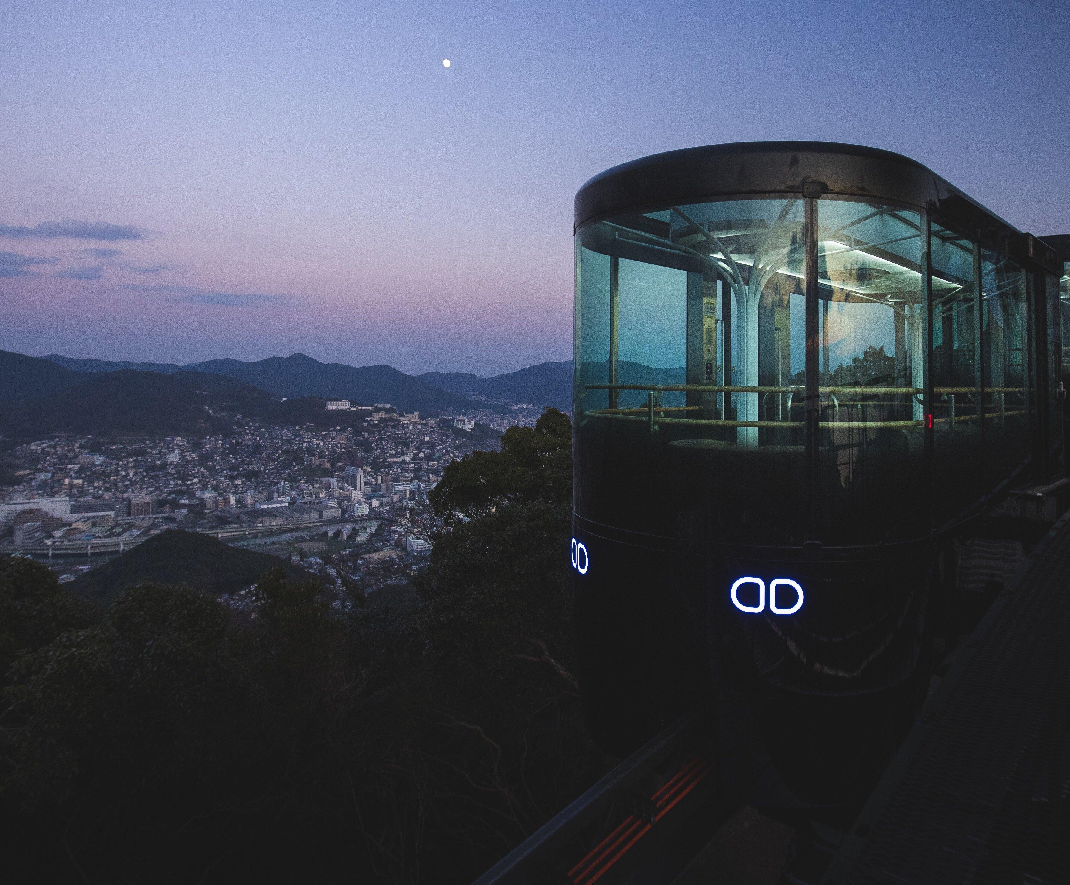 スロープカーからの長崎市街の眺め