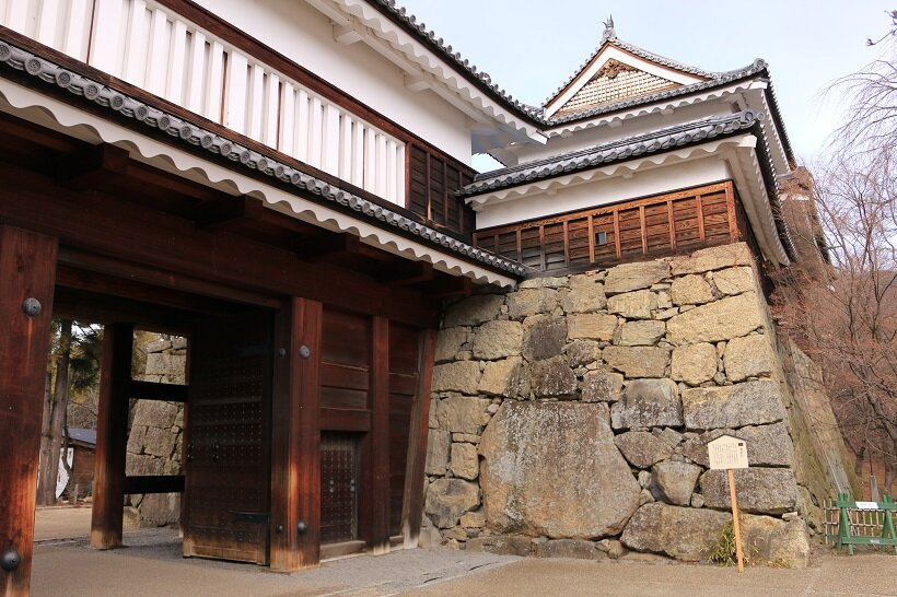 日本100名城の一つ、上田城(長野)