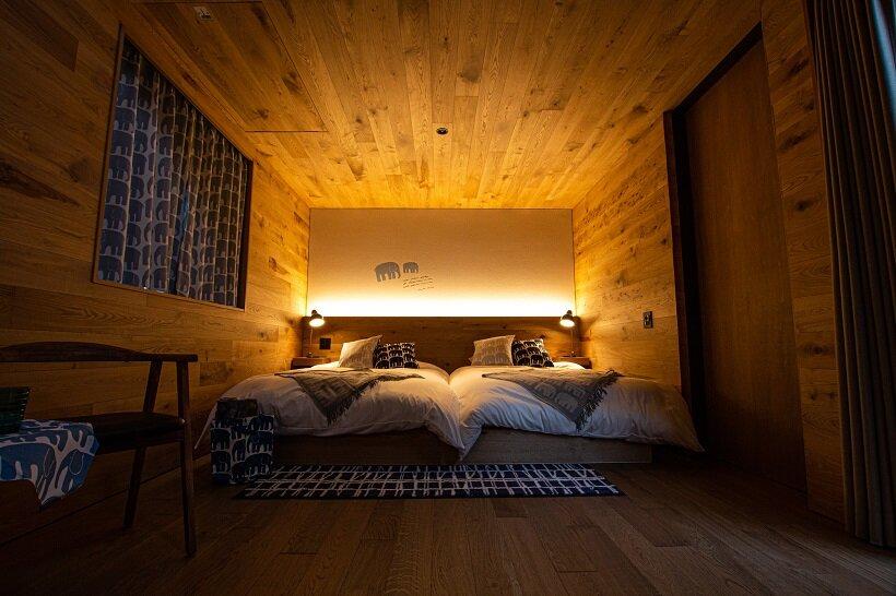 サウナスイートキャビンの寝室