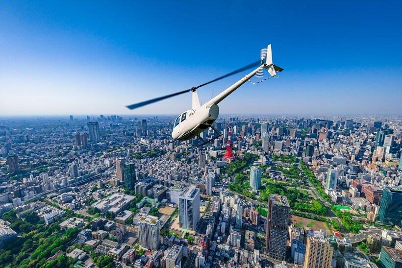 優雅にヘリコプターで!越生でリゾート体験