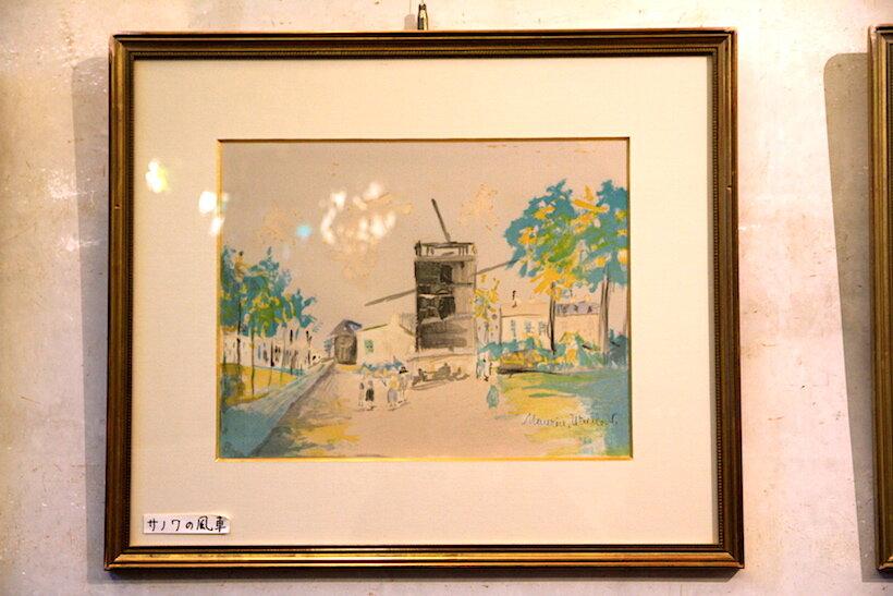 ユトリロの作品「サノワの風車」