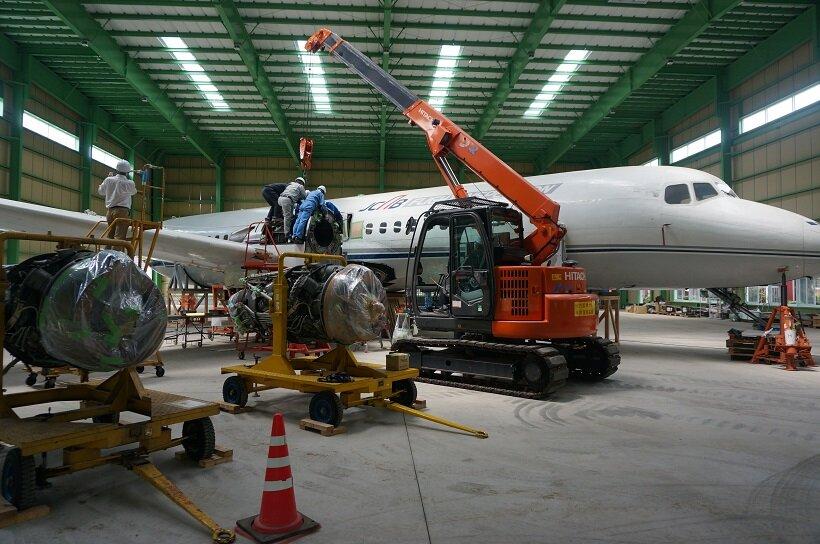 「YS-11機」組み立て資金募集中