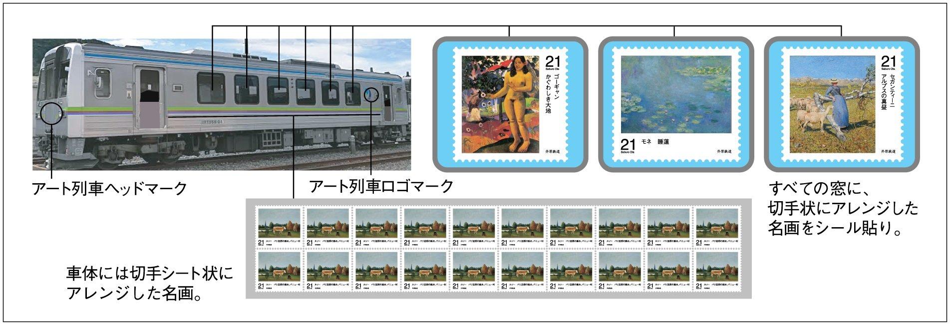 """【井原鉄道】""""名画を乗せた""""アート列車が走る!? クラウドファンディング受付中!"""