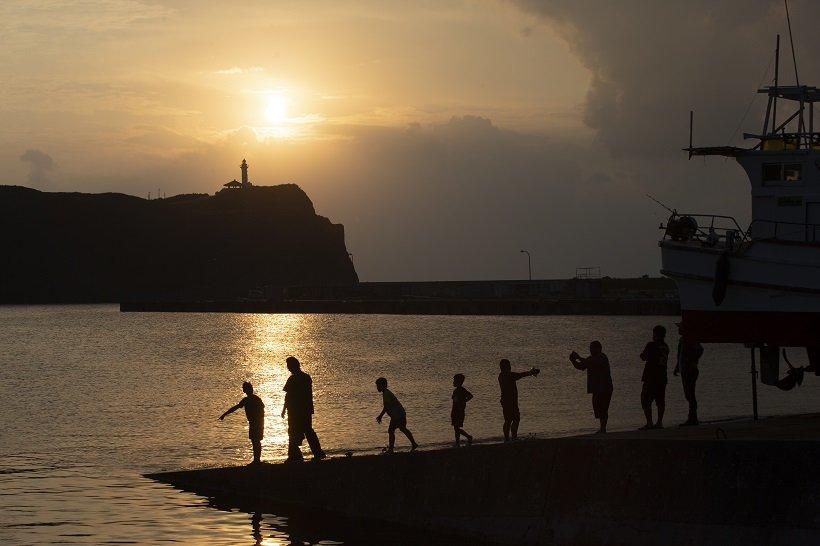 西崎の夕日