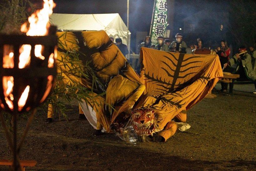 郷土芸能 かがり火の舞