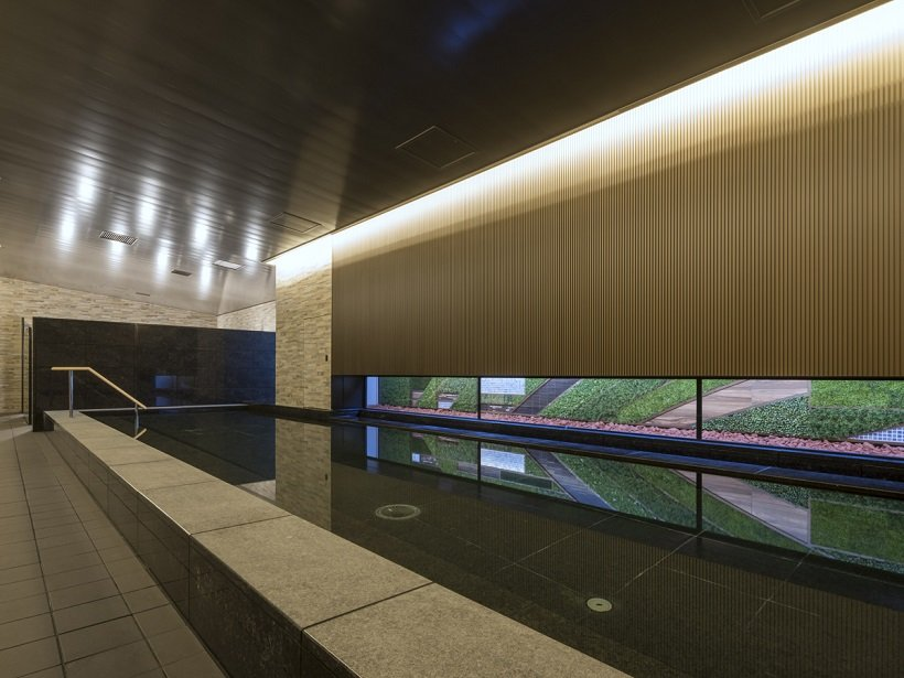 館内に宿泊客専用の大浴場を完備