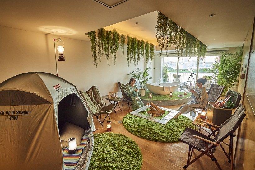 """都心ホテルの""""お部屋でキャンプ"""""""