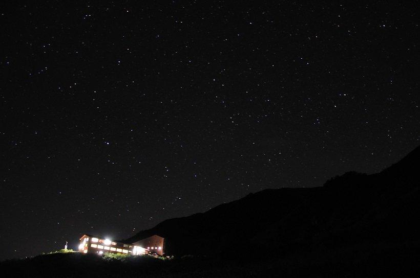 ホテル千畳敷の上空一面に広がる満天の星
