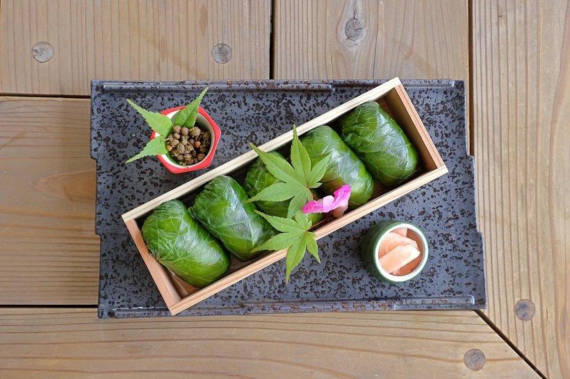 わさびの葉寿司